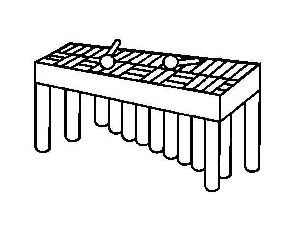 Dibujo de Xilófono orquesta para Colorear