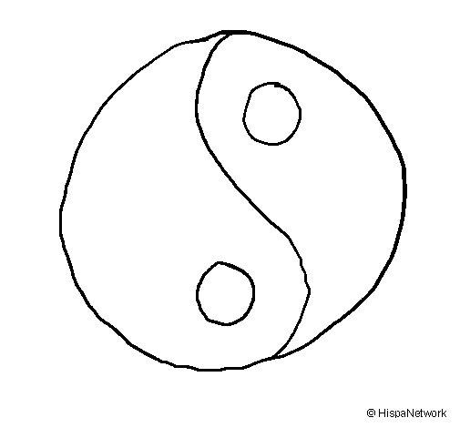 Dibujo de Yin yang para Colorear