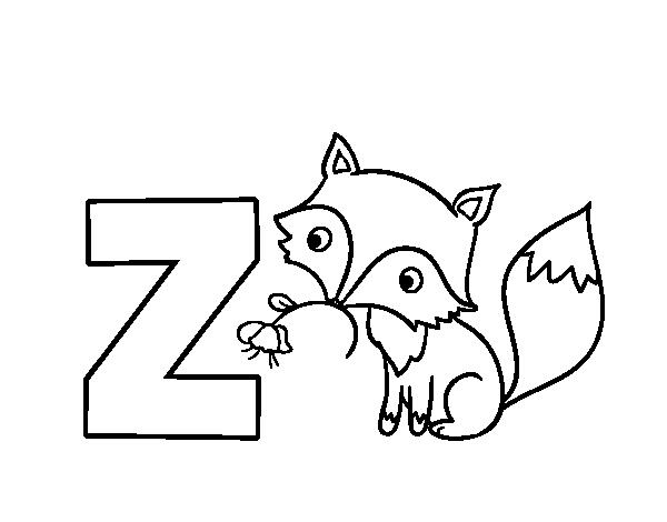 Dibujos De Letras A Color: Dibujo De Z De Zorro Para Colorear