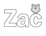 Dibujo de Zac para colorear