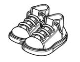 Dibujo de Zapatillas de niño