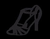 Dibujo de Zapato de fiesta para colorear