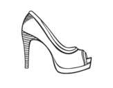 Dibujo de Zapatos con lazos