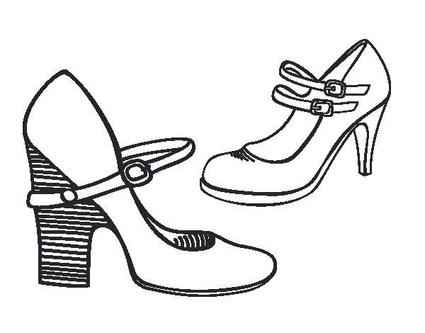 Dibujo de Zapatos de tacn para Colorear  Dibujosnet