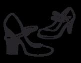 Dibujo de Zapatos de tacón