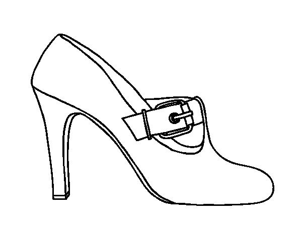 Dibujo de Zapatos elegantes para Colorear  Dibujosnet