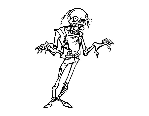 Dibujo de Zombie horripilante para Colorear