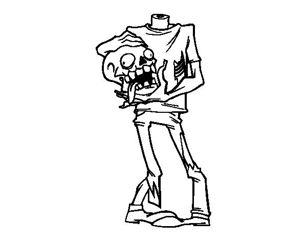 Dibujo de Zombie sin cabeza para Colorear - Dibujos.net