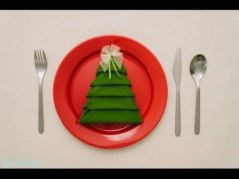 Servilleta árbol de Navidad