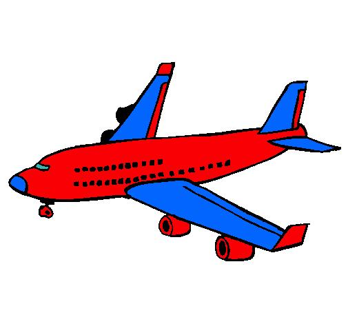 Dibujo de Avión de pasajeros pintado por Janda117 en Dibujos.net el ...