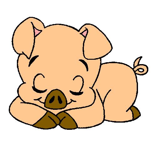 Dibujo De Cerdito Pintado Por Bebe En Dibujosnet El Día 19 08 10 A