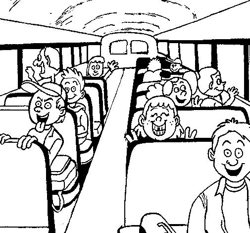 Dibujo de Autobus escolar pintado por Hermosa en Dibujos.net el día ...