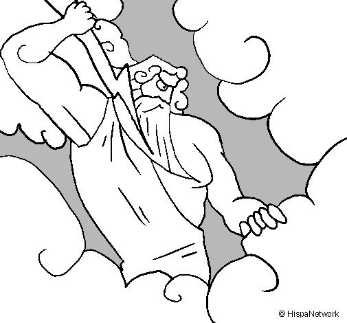 Dibujo de Dios Zeus pintado por Andrea en Dibujos.net el día 26-08 ...