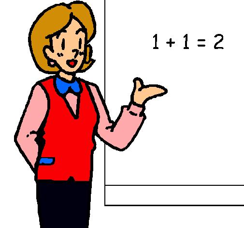 Dibujo De Maestra De Matemáticas Pintado Por Bonita En