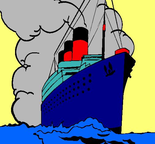Dibujo De Barco De Vapor Pintado Por Caricatura En Dibujosnet El