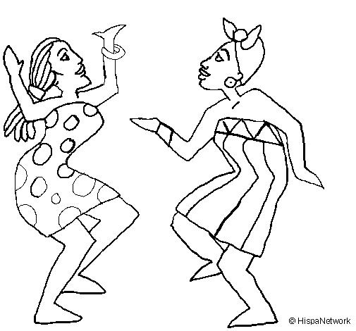 Dibujo de Mujeres bailando pintado por Stef en Dibujos.net el día 17 ...