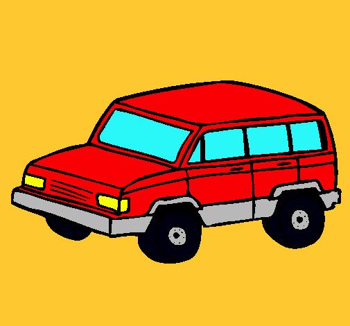 Dibujo De Coche 4x4 Pintado Por Camioneta En Dibujosnet El