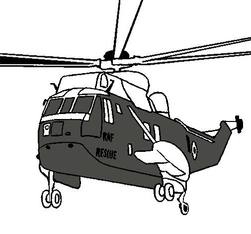 Dibujo de Helicóptero al rescate pintado por Dany en Dibujos.net el ...