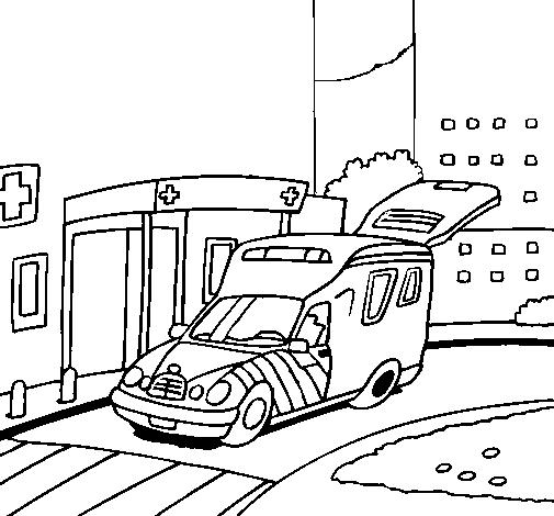 Dibujo de Ambulancia en el hospital pintado por Adriana en Dibujos ...