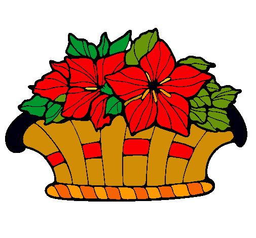 Dibujo De Cesta De Flores 8 Pintado Por Nochebuena En Dibujosnet El