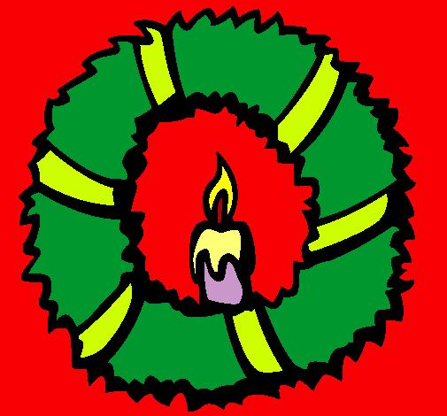 Dibujo De Corona De Navidad Ii Pintado Por Nochebuena En Dibujosnet