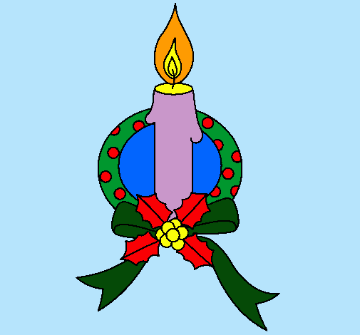 Dibujo De Vela De Navidad Iii Pintado Por Nochebuena En Dibujosnet