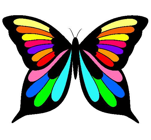 dibujo de mariposa pintado por bonita en dibujos net el día 04 10 10