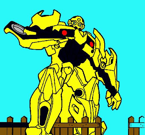 Dibujo De Transformer Pintado Por Bumblebee En Dibujosnet