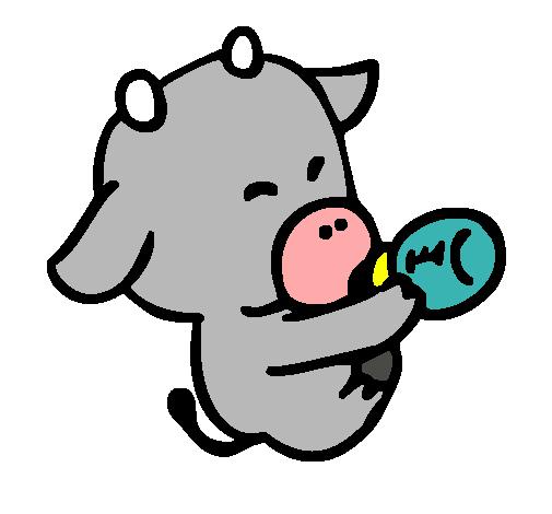 Dibujo de bebe vaca pintado por Vaquita en Dibujos.net el día 14-10 ...