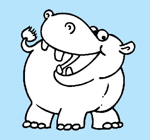 Dibujo de Hipopótamo pintado por Teacher en Dibujos.net el día 15-10 ...