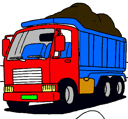Dibujo De Camión De Carga Pintado Por Camion En Dibujos