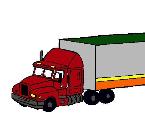 Dibujo De Camión Tráiler Pintado Por Kenworth En Dibujosnet