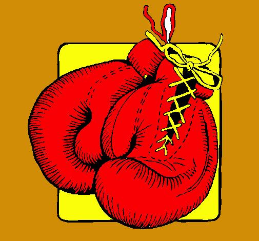 dibujo de guantes de boxeo pintado por adrianxtv en dibujos net el