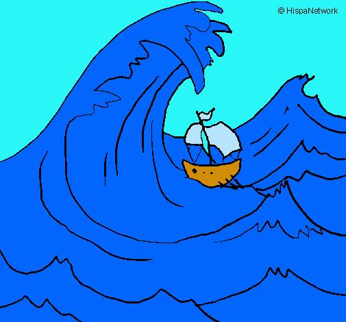 Dibujo De Gran Ola Pintado Por Ariel En Dibujosnet El Día 23 10 10