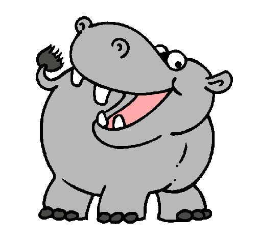 Dibujo de Hipopótamo pintado por Hipopotamo en Dibujos.net el día 20 ...