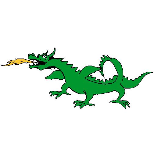 Dibujo de Dragón escupiendo fuego pintado por Dragon en Dibujos.net ...