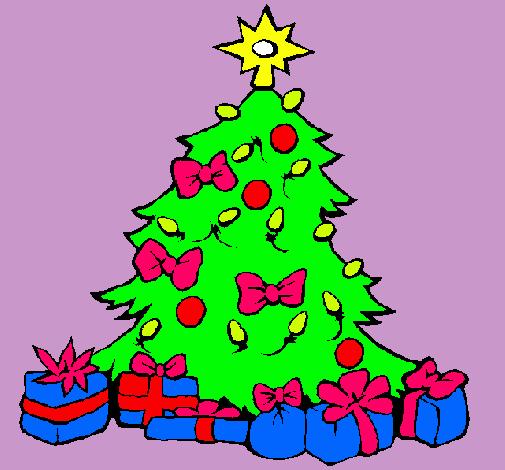 Dibujo De Arbol De Navidad Pintado Por Carolina En Dibujos Net El