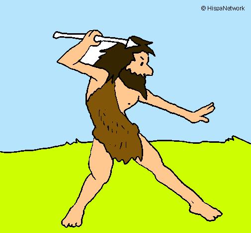 Dibujo De Cazador Pintado Por Prehistoria En Dibujos.net