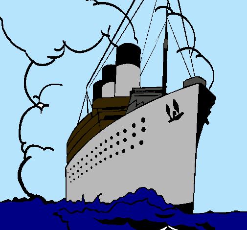 Dibujo De Barco De Vapor Pintado Por Titanic En Dibujosnet El Día