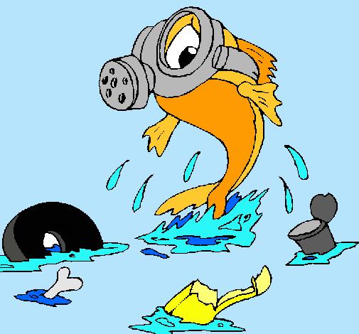 Dibujo De Contaminación Marina Pintado Por Rocio En Dibujosnet El