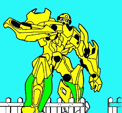 Dibujo De Transformer Pintado Por Megatron En Dibujosnet El