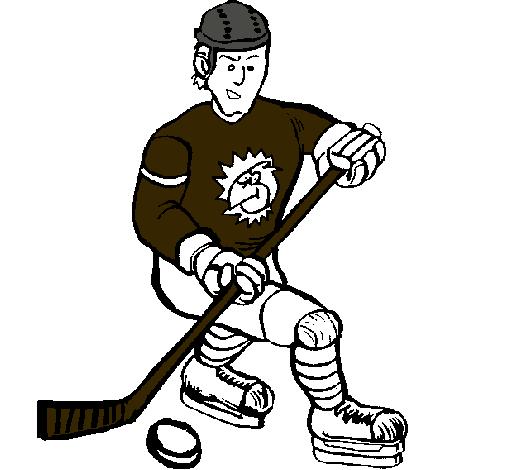 Dibujo de Jugador de hockey sobre hielo pintado por Melina en ...