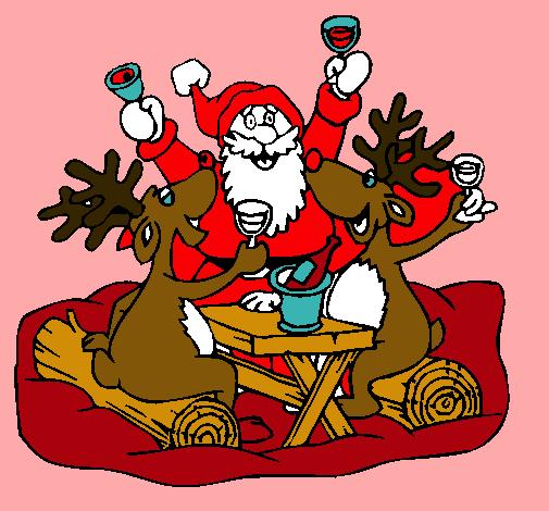 Dibujo De Navidad Pintado Por Princesas En Dibujosnet El