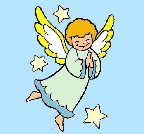 Dibujo De Angelito Pintado Por Maluisa En Dibujosnet El Día 10 11