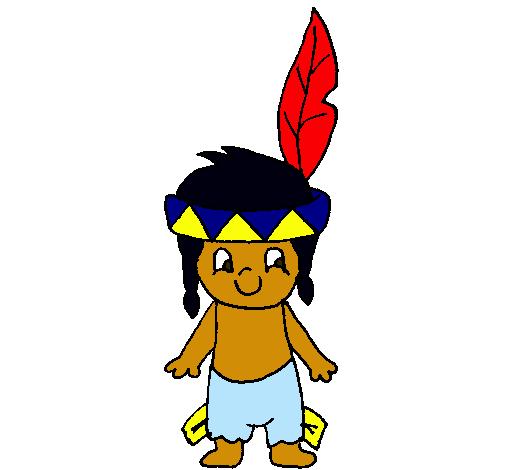 Dibujo de Pequeño indio pintado por Indio en Dibujos.net el día 15 ...