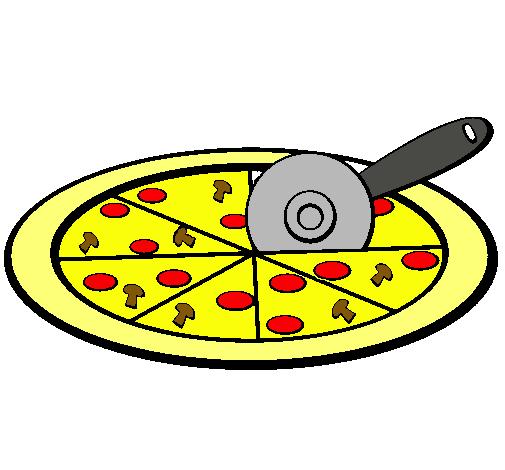 Dibujo De Pizza Pintado Por Andrichi En Dibujosnet El Día