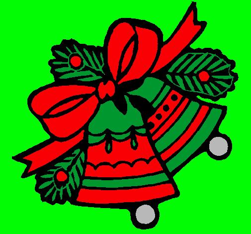 Dibujos de campanas de navidad pintadas