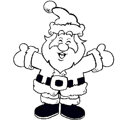 Dibujo De Papa Noel Feliz Pintado Por Viejito En Dibujosnet