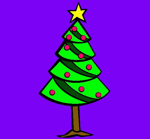 Dibujos De Arboles De Navidad Pintados.Dibujo De Arbol De Navidad Ii Pintado Por Arbol En Dibujos