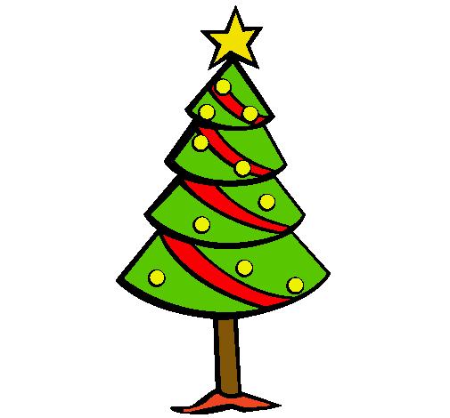 Dibujo de rbol de navidad II pintado por Dafne en Dibujosnet el